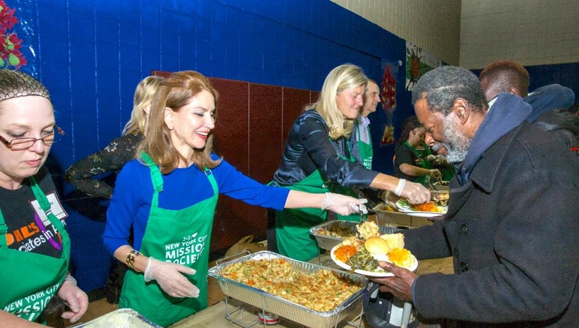 Philanthropist Jean Shafiroff Attends & Underwrites Thanksgiving Event At Harlem Nonprofit
