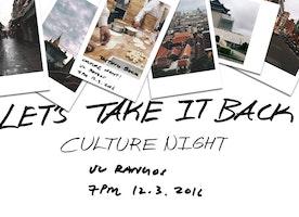 TSA presents: Culture Night 2016 (Let's Take It Back)