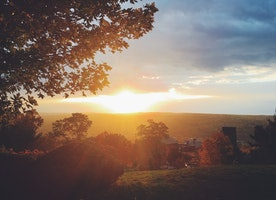 Check Out the Gorgeous Ithaca Sunset!
