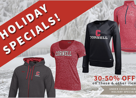 Do Your Holiday Shopping at the Cornell Store NOW: 30-50% off!