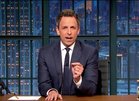 Seth Meyers's Tearful Message to President Trump: 'I'm Hopeful That He's Not Actually a Racist'