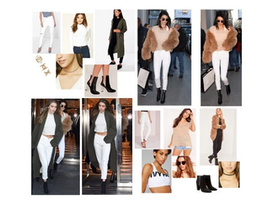 Steal Their Style- Supermodel Duo Gigi Hadid & Kendall Jenner Sport Matching White Jeans & Fancy Coats