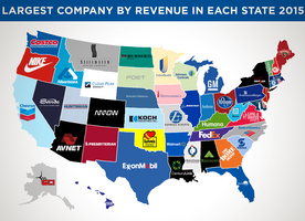 Here is the Largest Company By Revenue in Each State in 2015