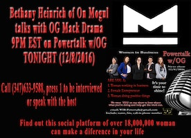 Bethany of On Mogul on Powertalk w/OG-TONIGHT @9pm EST #IWillMarch