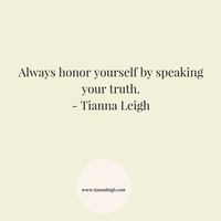 You are allowed to speak your truth
