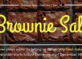 Global Water Brigades BROWNIE SALE