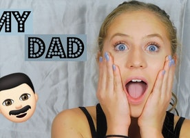 YouTube Vlogger's Father Breaks Out All the 'Dad Jokes' in Daughter's Makeup Tutorial
