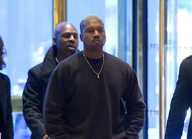 Kanye West Just Walked Into Trump Tower