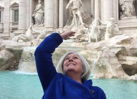 Make a wish. Trevi Fountain, Rome.