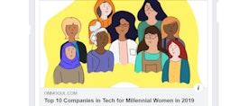 Top 10 Companies in Tech for Millennial Women - we made the list!