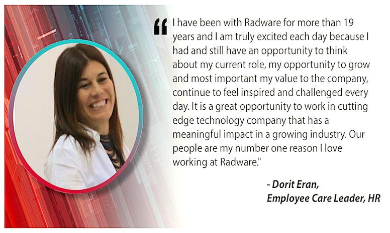 Meet Dorit E. of Radware!