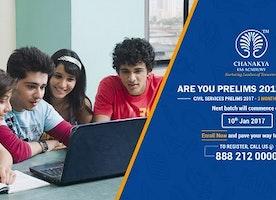 Chanakya IAS Academy announces short term course for Civil Services Prelims examination 2017