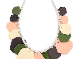 Shapes Overlay Necklace - Silver