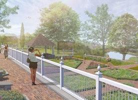 New Garden Overlooks Paradise Pond