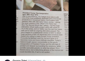 George Takei Congratulates The Herald After They Diss Donald Trump