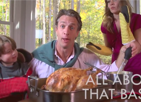 "The Family That Got 14 Million Views for ""Christmas Jammies"" Has Returned With This Thanksgiving Parody ""All About That Baste"""