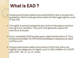 Apply for EAD - Work in USA