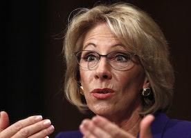 Trump's education secretary won't take a salary from taxpayers