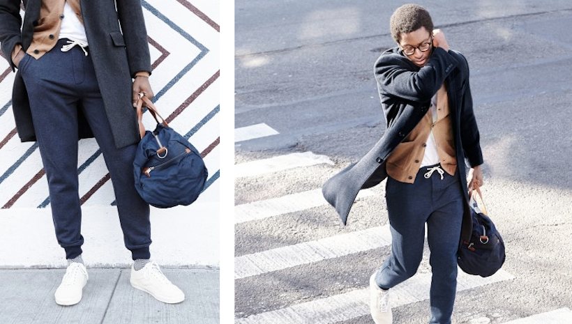 3 stylish New Yorkers show us how they incorporate slim & sharp versions of classic sweats into their daily routine