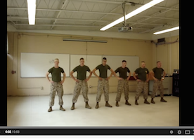 Marines dance in their spare time. it's hilarious!