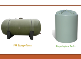 Know Difference between Polyethylene and FRP Storage Tanks