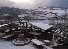 It snowed today in Montefollonico.