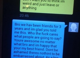 """This Sister Posted Her Brother Coming Out To His Best """"Bro"""" Over Text Message. The """"Bro"""" Had The Best Response Ever."""