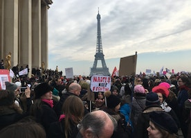 Snapshots of the Women's March in Paris