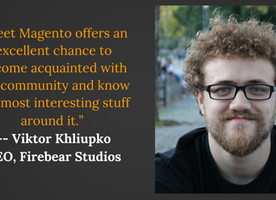 Viktor Khliupko shares his experience with Magento
