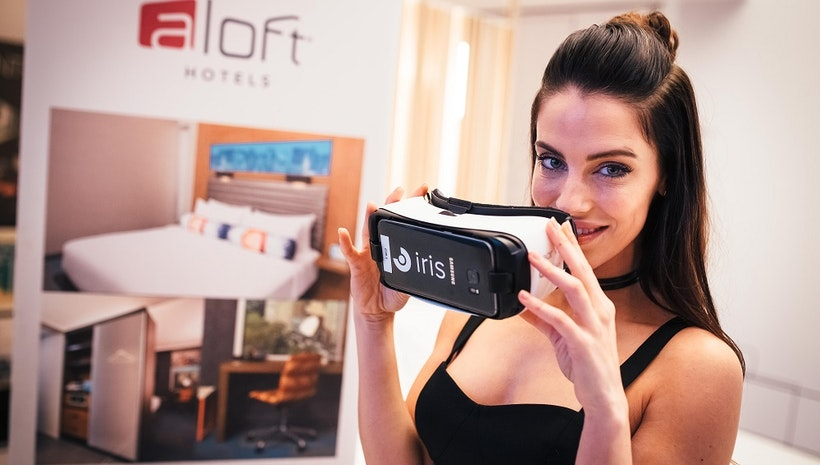 Actress Jessica Lowndes Dances with a Robot