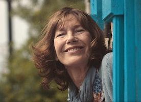 "Enchanting legend Jane Birkin in Timo Von Gunten's Oscar Nominated Short  ""La Femme et le TGV"""
