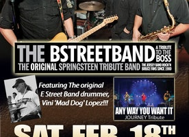NO INAUGURATION - BUT THE B-STREET BAND: A TRIBUTE TO THE BOSS ROCKS THE SPACE AT WESTBURY THEATRE SATURDAY, FEBRUARY 18TH