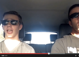 "Father and Son Lip Sync to Taylor Swift's ""Shake It Off"" in Hilarious Video"