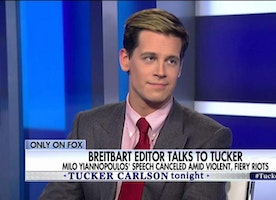 'This Is Political Violence': Milo Talks to Tucker About Fiery Berkeley Riots