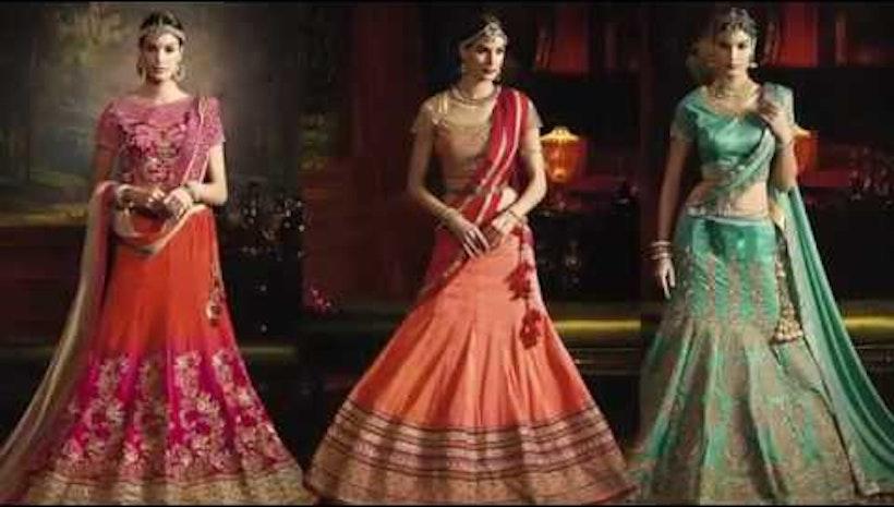 Wedding Lehenga Choli   Latest Designer Indian & Partywear IndoWestern Lehengas for Stylish Ladies