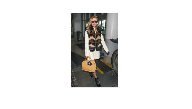 Kate Bosworth Rocks Multi-Color Fur Gilet – Shop Her Outfit For Less