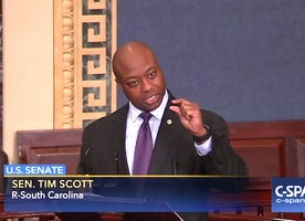 Tim Scott reads racist tweets by 'liberal left' over support for Jeff Sessions