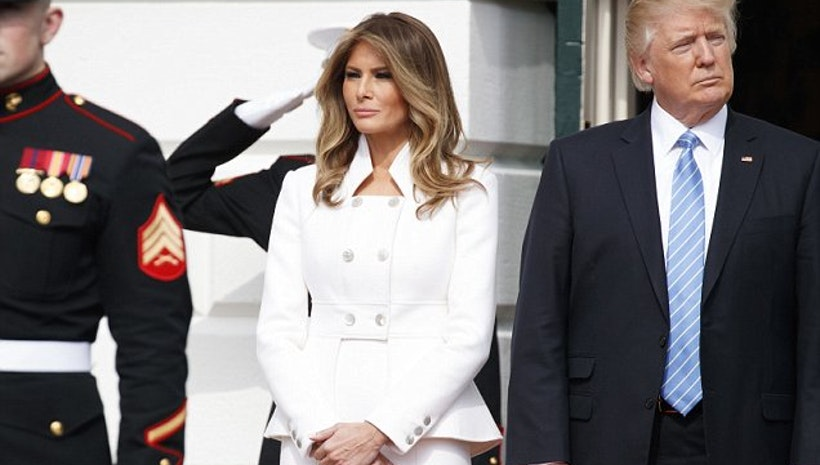 Melania Trump makes her first official White House appearance