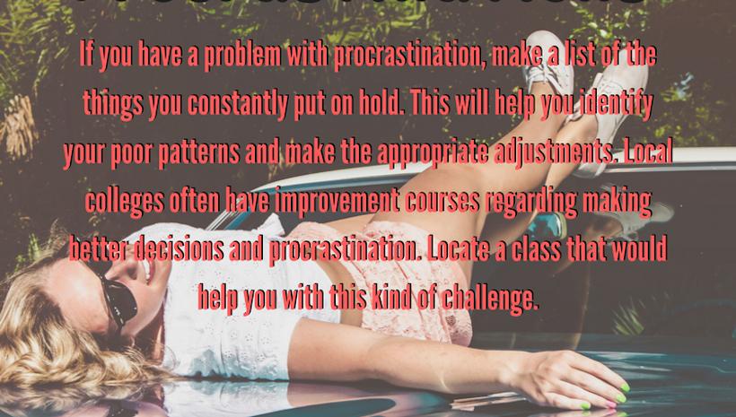 Identify Procrastinations