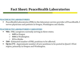 PeaceHealth cuts 500 jobs as Quest Diagnostics takes over operations of labs in Northwest