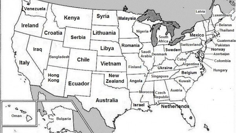 This Brilliant Map Renames Every US State With A Country That - Us map gdp countries
