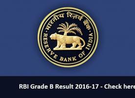RBI Grade B Result 2017