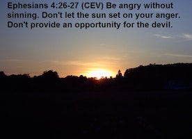 Be angry without sinning