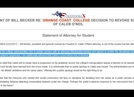 OCC absolves student for recording prof's anti-Trump rant