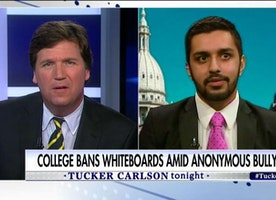 'Why Not Ban Pens & Keyboards?' Tucker Battles Student Over MSU Whiteboard Ban