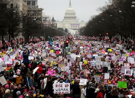 The next women's march is co-organized by a terrorist
