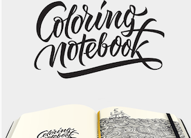 Paper Notebook with Adult Coloring Pages   ColoringNotebook