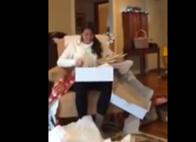This Girlfriend Absolutely Loses It When She Realizes Her Christmas Gift is a Surprise Proposal