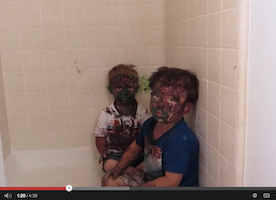 """Kids Get Caught Playing with Paint...and Dad """"Tries"""" to Discipline Them"""