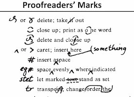 30+ Proofreading Marks You'll Need in College